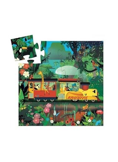 Djeco Djeco Dekoratif Puzzle 16 Parça/Lokomotif Pembe